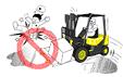 Forklifti kaygan yüzeylerde kullanmayınız